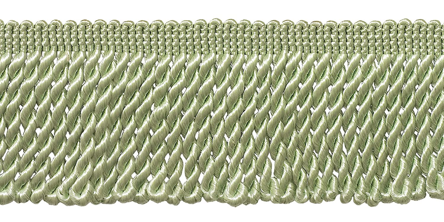 DecoPro 2.5 Inch Bullion Fringe Trim Sold by The Yard G12 Style# Ef25 Color: Pale Jade Green
