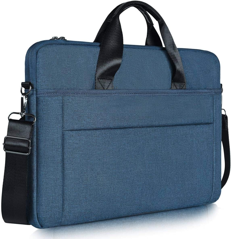15.6 inch Laptop Briefcase Bag, Slim Laptop Carrying Case for HP ENVY X360 15.6/HP Chromebook 15, Lenovo Ideapad L340, Acer Chromebook 15, Dell Inspiron 15, Waterproof Laptop Case for Men Women, Blue