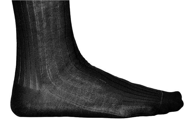 a164fd051ed vitsocks Chaussettes de Ville Homme 100% COTON MERCERISÉ (Lot de 3)  Côtelées Fines Habillées  Amazon.fr  Vêtements et accessoires