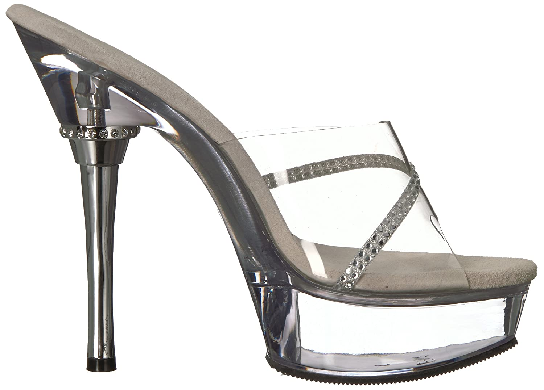 Pleaser Women's DELIGHT-602/C/M Platform Sandal B0013JBI58 12 B(M) US Clear