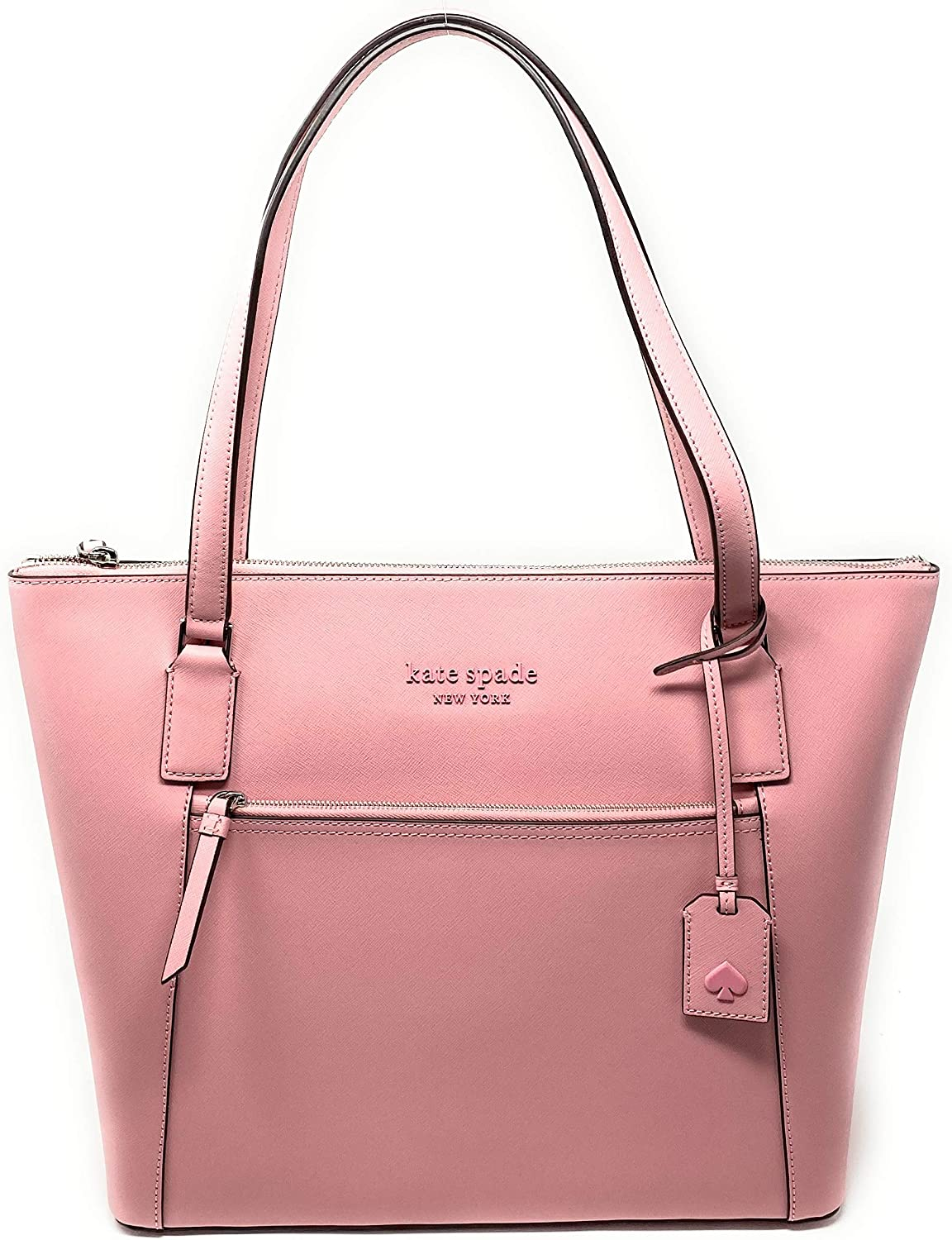Kate Spade New York Cameron Pocket Womens Saffiano Leather Tote (Bright carnation)
