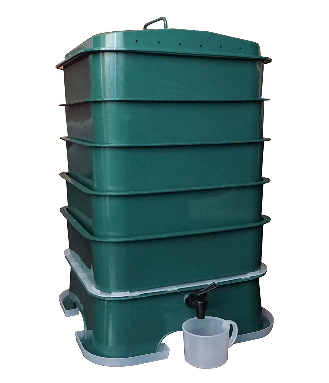 Amazon.com: VermiHut Plus - Cubo de compost con 5 bandejas ...