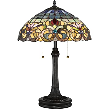 Quoizel Tf3180tvb Tiffany Table Lamp Small Vintage Bronze