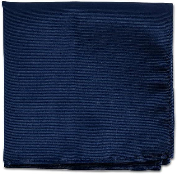 Navy Blue Pocket Squares For Men - Mens Woven Pocket Square Tuxedo Wedding Solid Color Formal Handkerchiefs best pocket squares