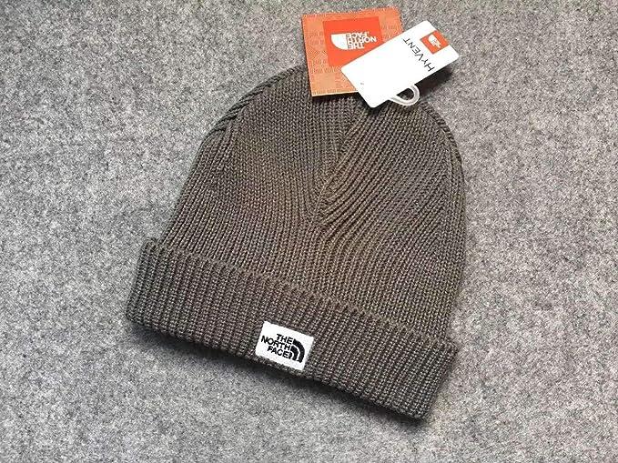 The North Face Winter Thicken Polar Fleece Thermal Beanie Hat  (Coffee-black 197468b4e35