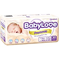 Babylove Premmie Nappies (1.5-3.0kg) 4 x 30 Pack - 120 total)