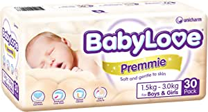 Babylove Premmie Nappies (1.5-3.0kg) 4 x 30 Pack - 120 total