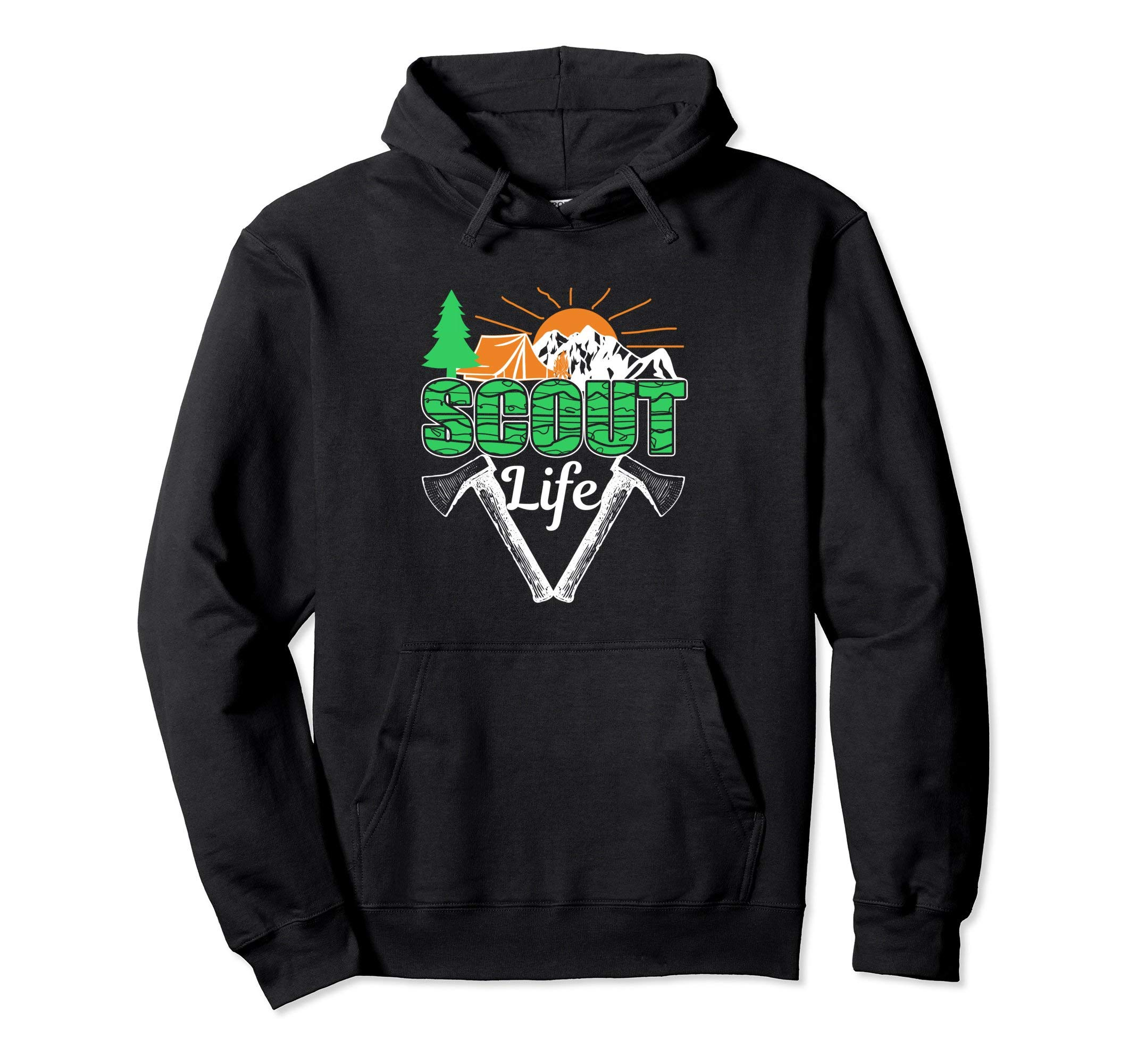 Scout Life Cub Camping Scouting Hiking Leader Boy Hoodie by Scouting Shirts By Ark