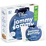 Plum Organics Jammy Sammy, Organic Kids Snack Bar, Blueberry & Oatmeal, 5.1 oz, 5 bars