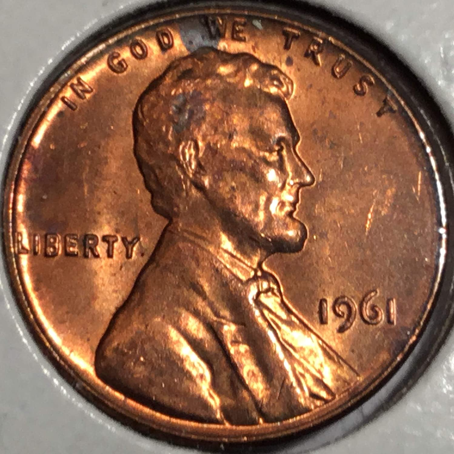 1961-P Lincoln Memorial Cent Proof Red Penny
