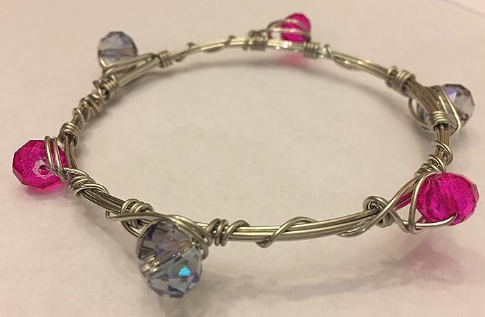 Amazon.com: Pink Bracelet, Pink and Purple Jewelry, Girly Jewelry ...