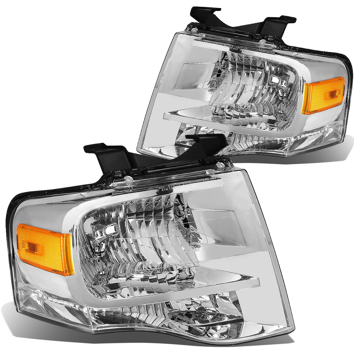 DNA Motoring HL-OH-FEXP07-CH-AM Headlight Assembly (Driver & Passenger Side)