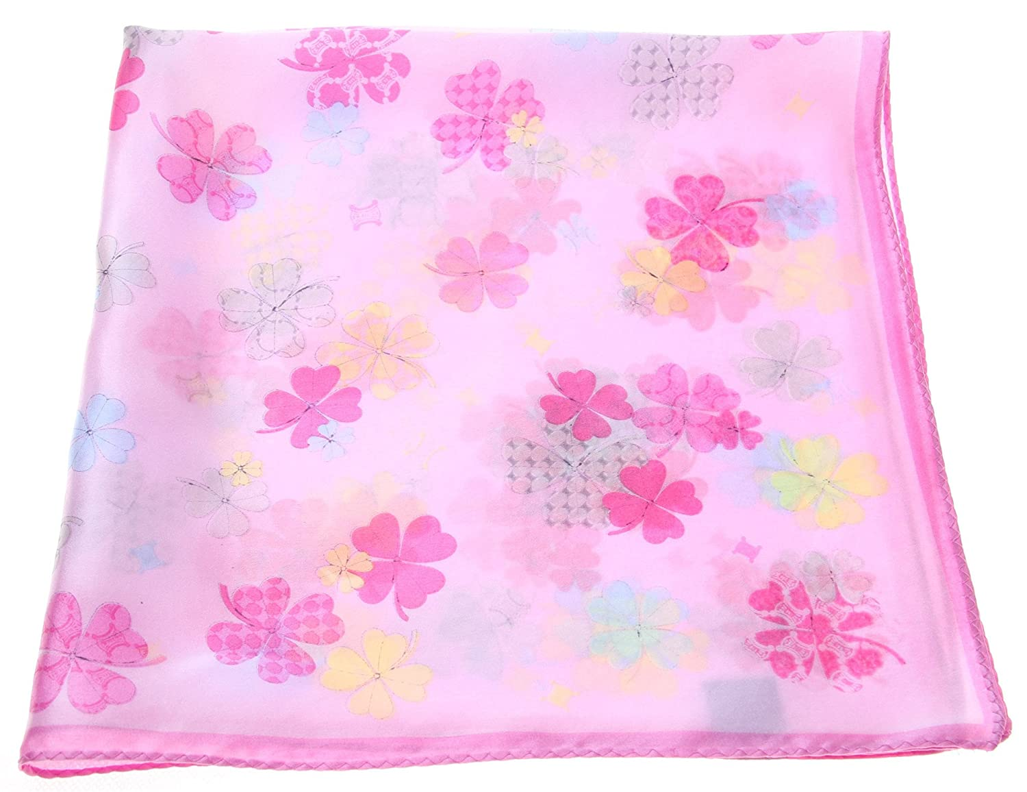 L&A Silk Pink Red Silk Squrae Scarves for Women Girls and Kids 21*21 Inches
