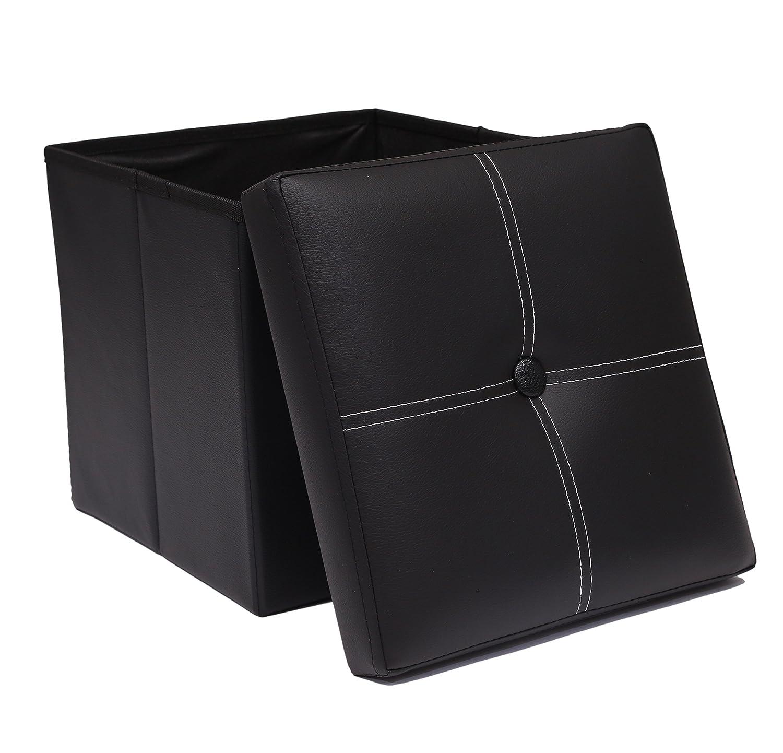 PennyZ Storage Ottoman Folding Foot Rest Stool Corner Seat Versatile Cube Seat Storage [ Max Load 330Ib/150KG - 12
