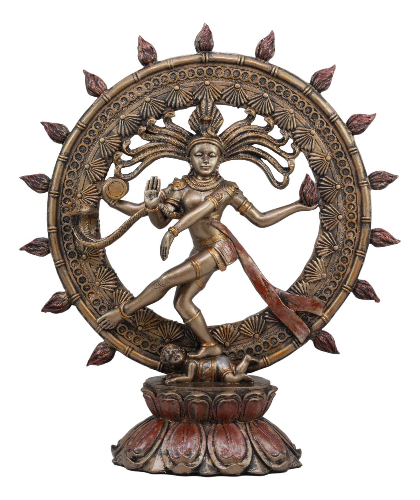 Ebros Large Hindu Supreme God Shiva Nataraja Statue 15''Tall Cosmic Divine Dancer Tandava Sabesan Liberator of Souls Eastern Enlightenment