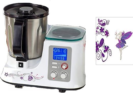 Robot de cocina pegatinas Tribal Flores Lila Hada para Studio ...