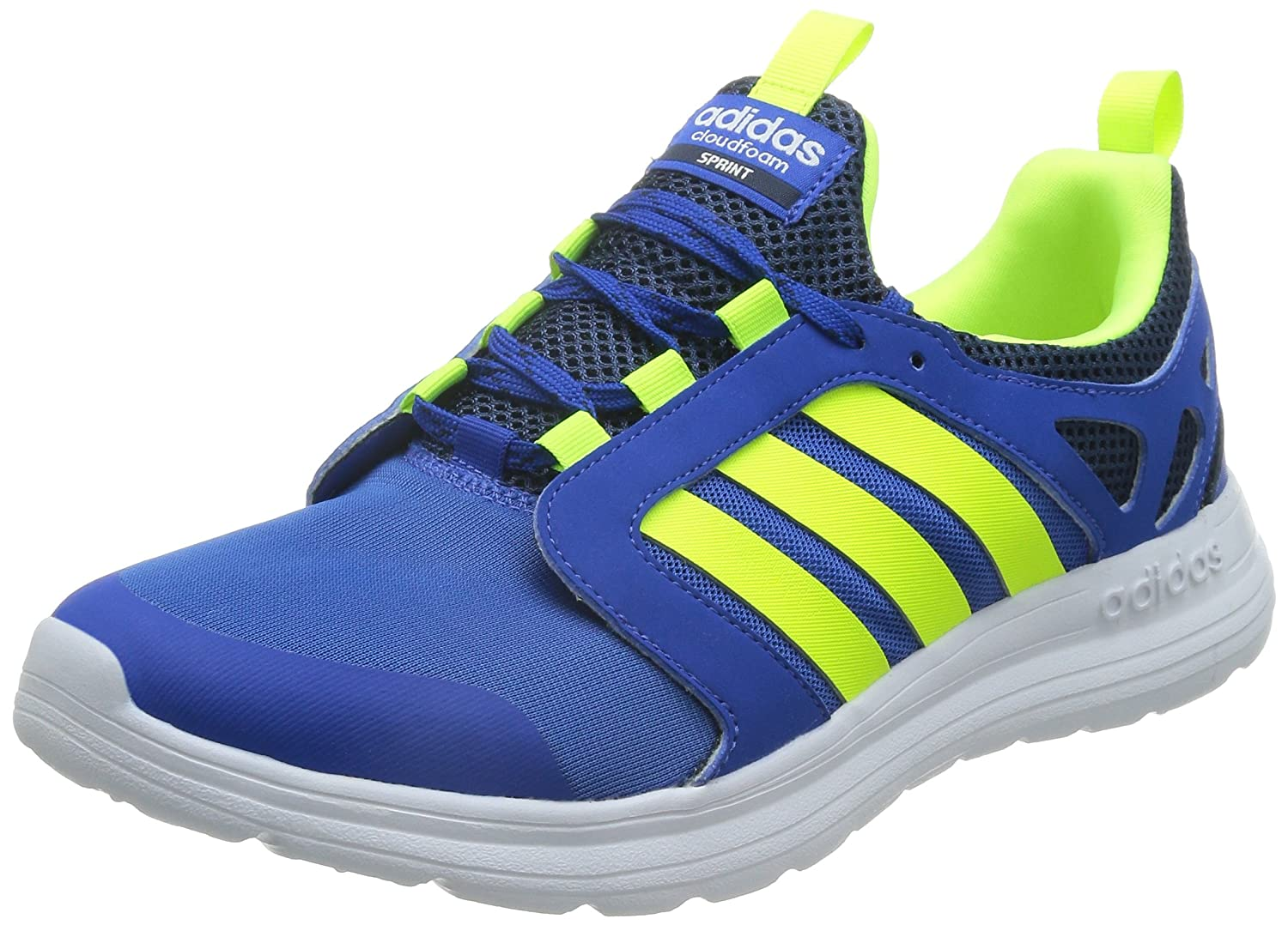 Mens Sneakers Cloudfoam Neo Sprint Running Shoes Sports Trainers Blue AQ1489 New