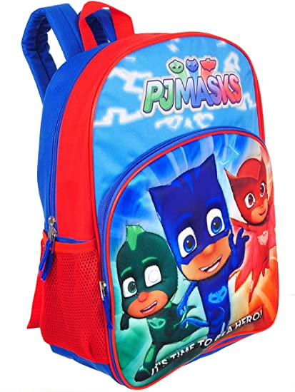 "PJ MASKS GECKO CATBOY & OWLETTE 15"" Backpack ..."