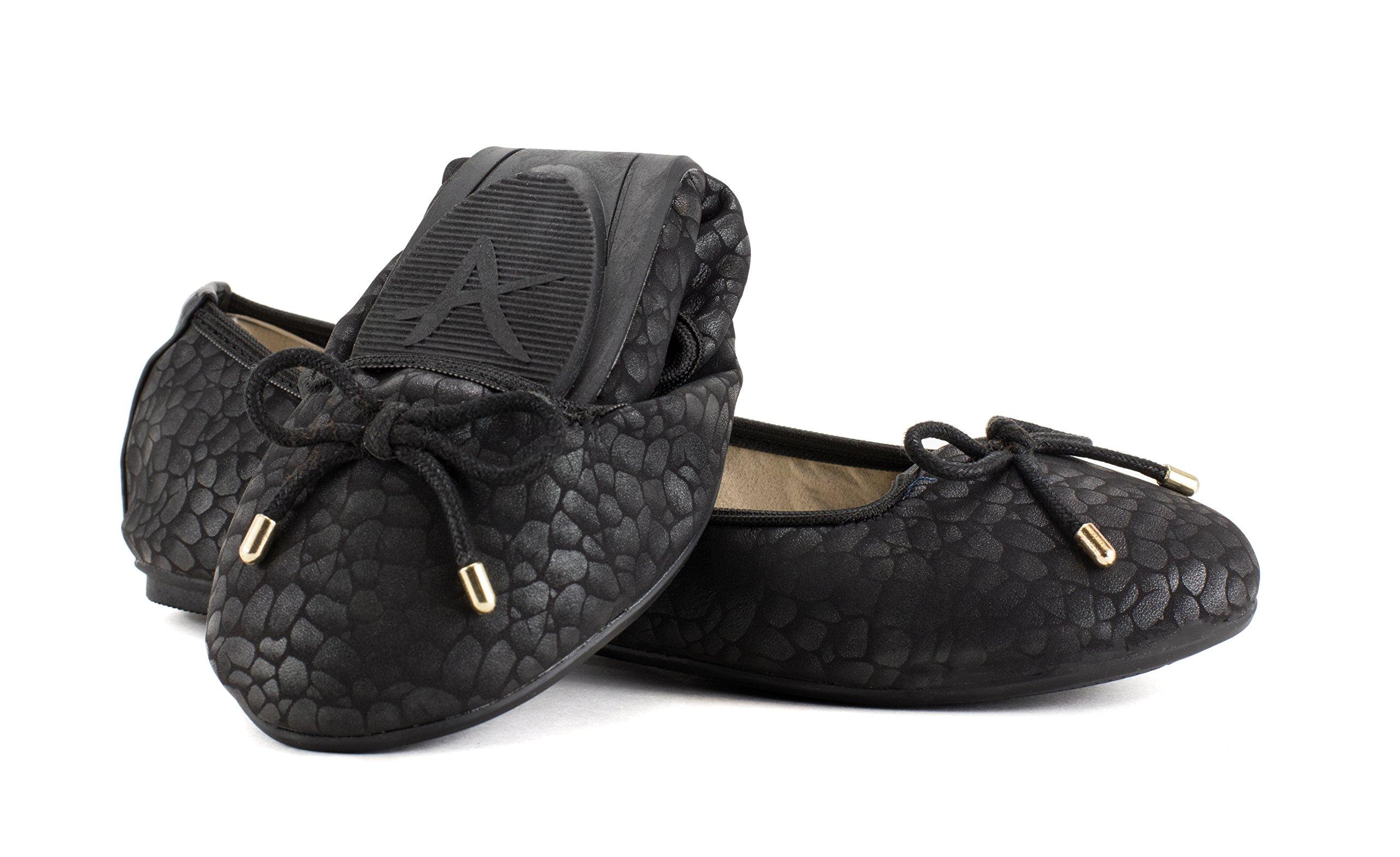 Avanti Kayla Ballet Foldable Travel Shoes with Bow Design (8)