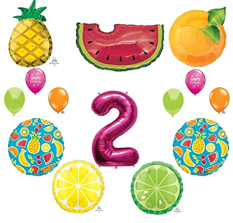 Amazon 14pc TWO TI FRUITY New BALLOON Set PARTY 2nd SECOND Birthday Decorations FAVORS Gift Everything Else