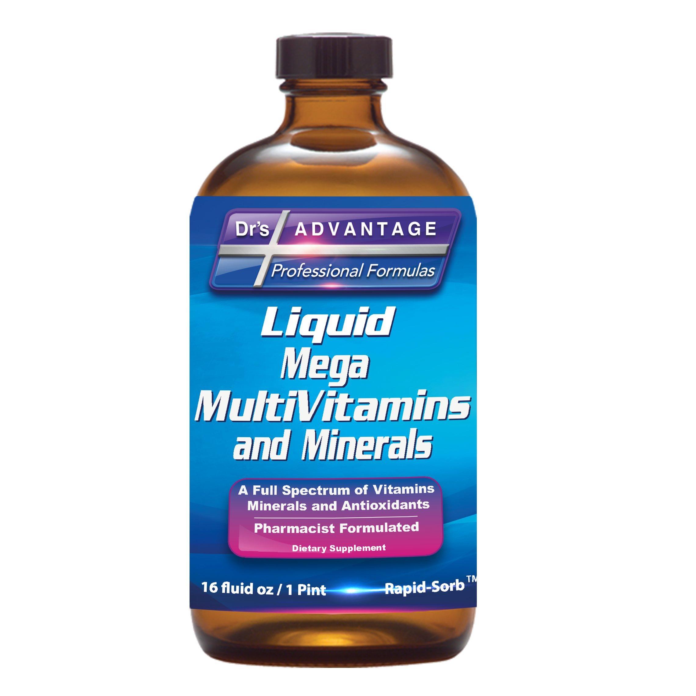 Drs Advantage - Liquid Mega MultiVitamins & Minerals 16oz. [Health and Beauty]