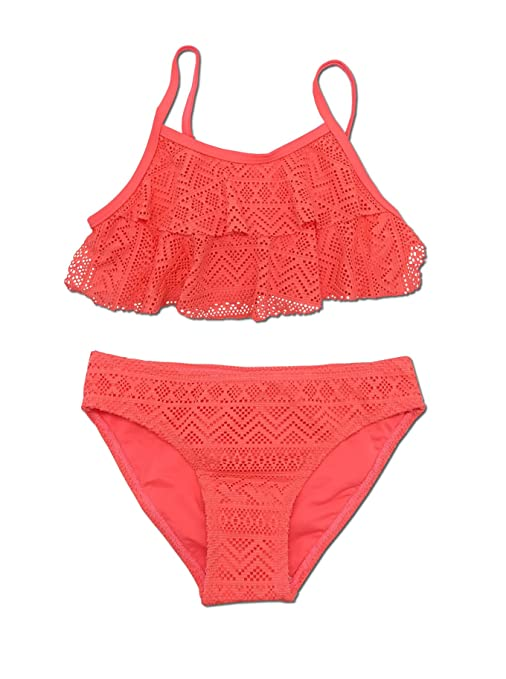 SHEKINI Mädchen Zweiteiler Bikini Badeanzug Teenager Bademode Spitze Schwimmanzug Tankini Set