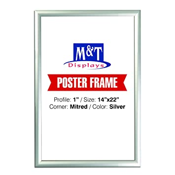 Amazon.com: Snap Frame 14 X 22 Inch, Poster Size 1 Inch, Silver ...