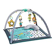 Infantino 4-in-1 Milestones & Memories Twist & Fold Gym, Light Blue