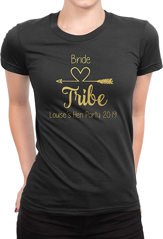 Female Hen Do Party Bride Tribe 2019 Personalised T-shirt Ladies .