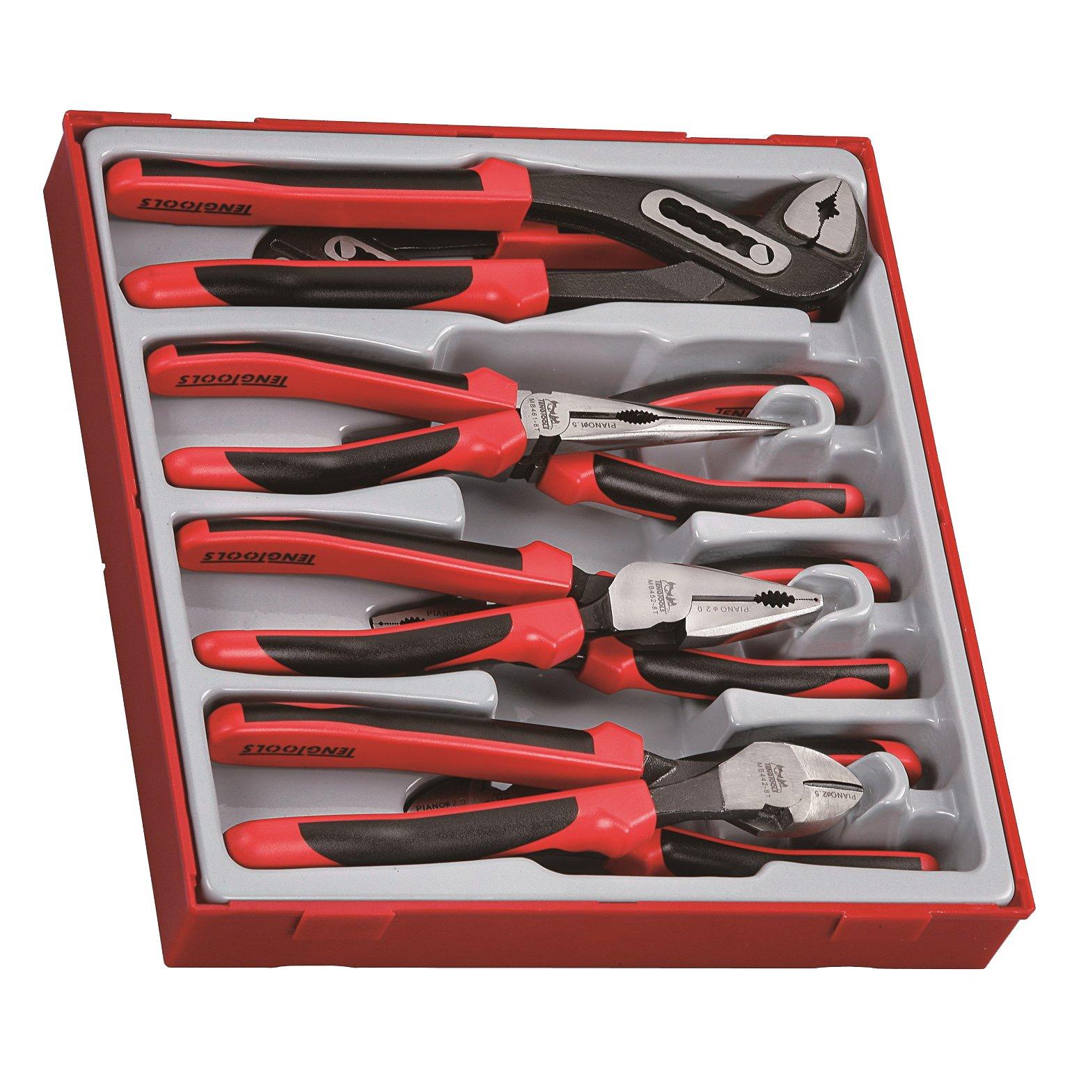 Teng Tools TTD441-T - 8 Piece TPR Grip Plier Set by Teng Tools