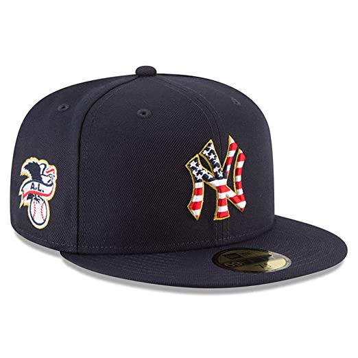 2b05f5defeb New Era New York Yankees Navy 4TH of July Cap 59fifty 5950 Fitted MLB  Limited Edition