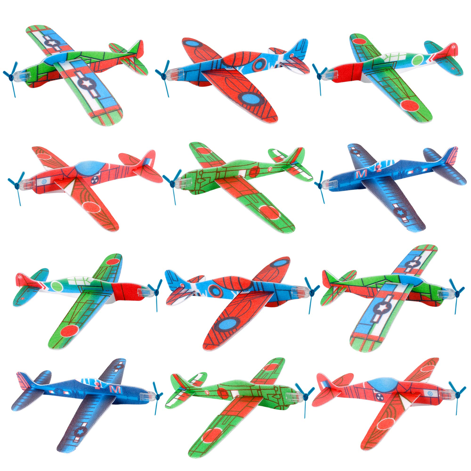 UPINS 48 Pcs 8'' Flying Glider Plane,6 Different Designs by UPINS (Image #7)