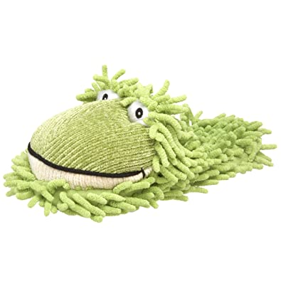 Aroma Home Kids Fuzzy Friends Frog Slipper, Small, Green