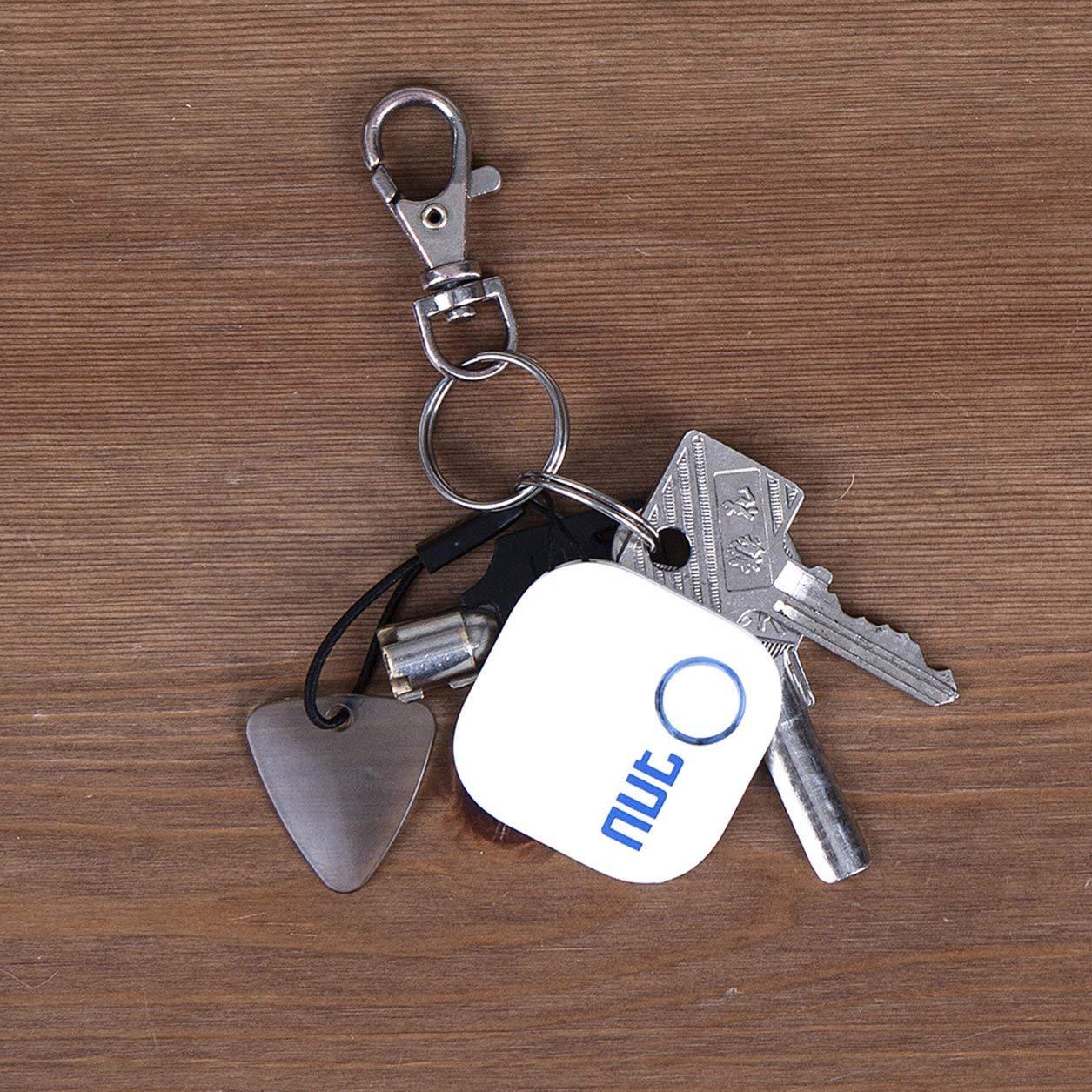 pour NUT2 Tag Tile Puce Bluetooth Tracker Key Finder Locator pour cl/é Anti Perdu Blanc