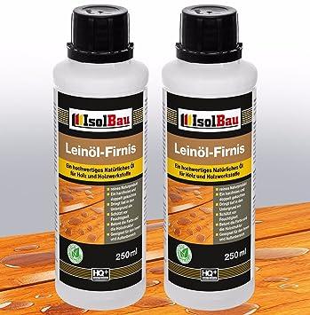 0 50 Liter Doppelt Gekocht Natur Holzschutz Leinol Firnis Holzol