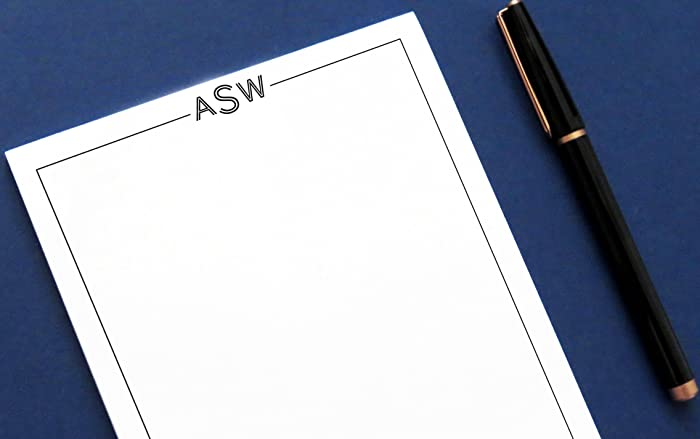 Workbook customizable handwriting worksheets : Amazon.com: Monogrammed notepad, Monogrammed notepad wth Monogram ...