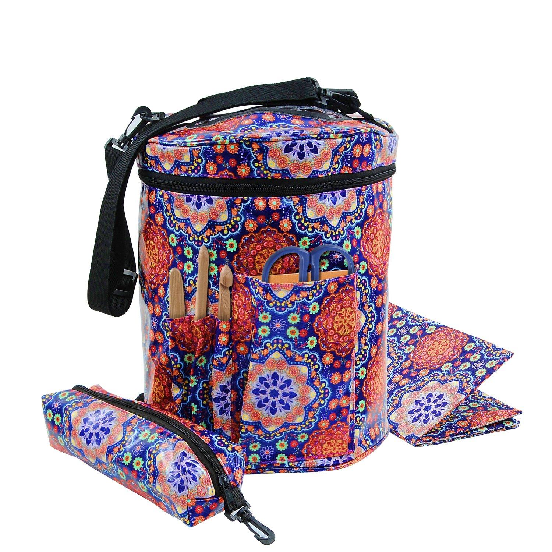 Knitting Bag Fadenspeichertote -Organisator mit Inneneinteiler zum ...
