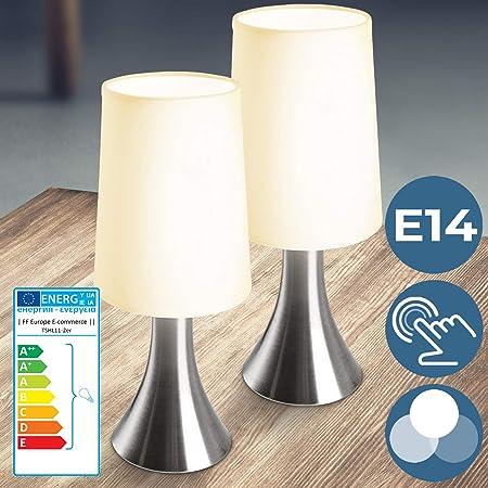 Lampe de Chevet Tactile 3 Intensités CEE: A++ à E, E14