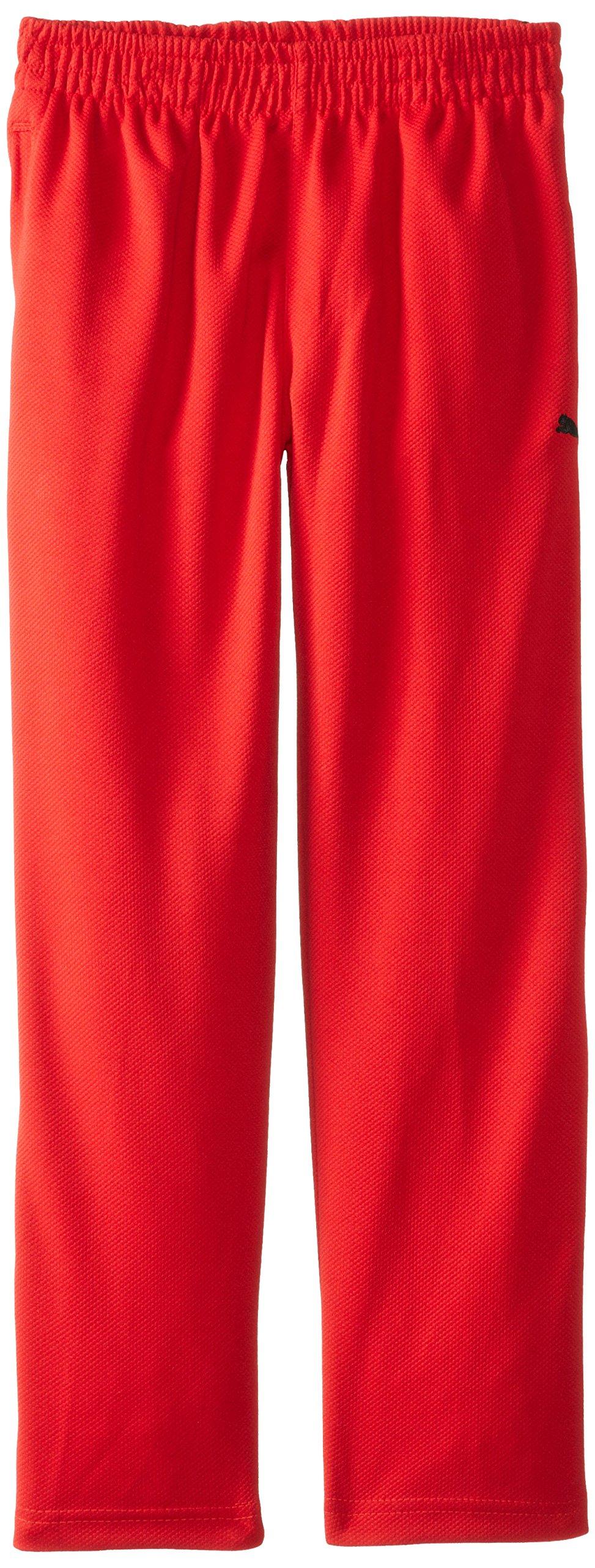 PUMA Big Boys' Training Pant, Red, Medium