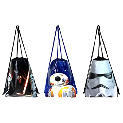 Disney Star Wars Drawstring/Backpack Set of 3: Clothing [5Bkhe0206438]