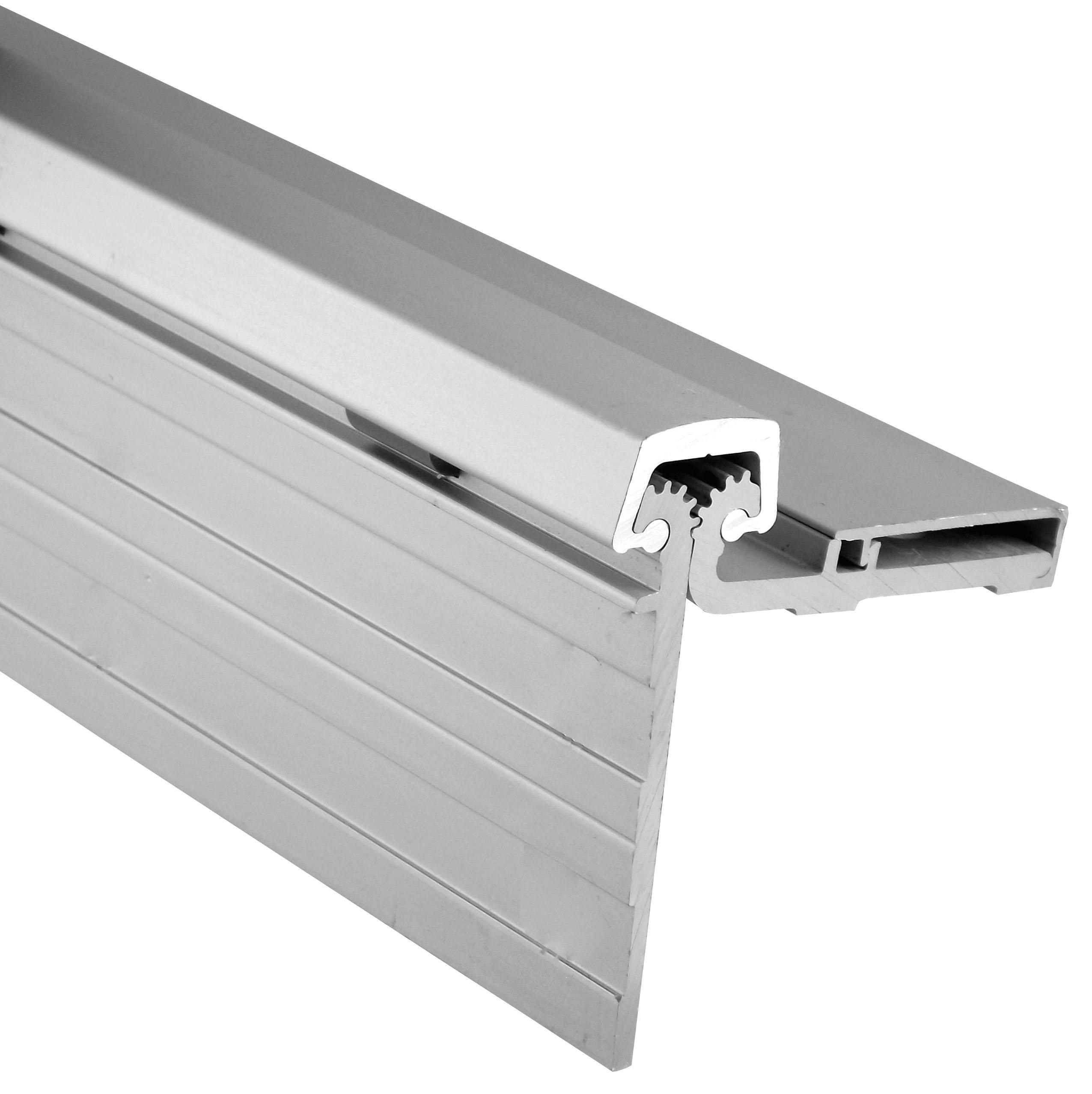 Pemko Standard Duty Half Surface Hinge, Clear Anodized Aluminum, 83''L