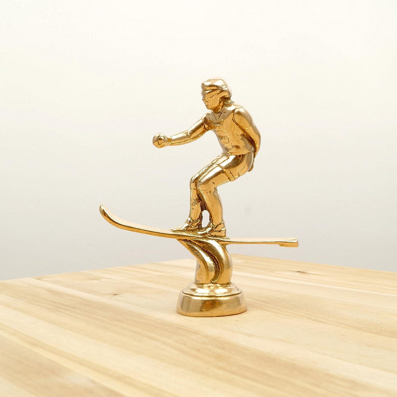 Restored by UKARETRO Water Skier Figurine/Statue || Water Skiing || Vintage Solid Brass Figurine