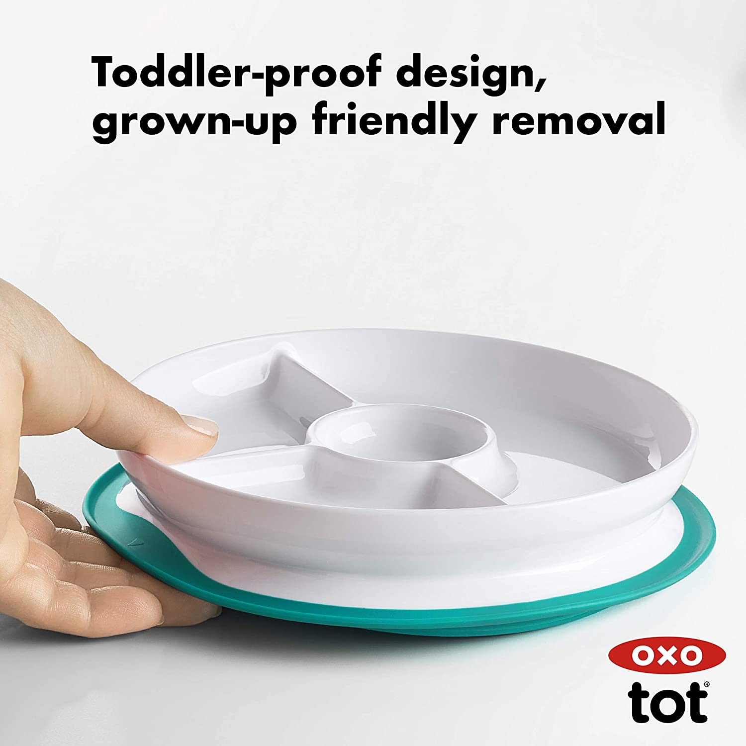 Teal OXO Tot Stay-Put Bowl