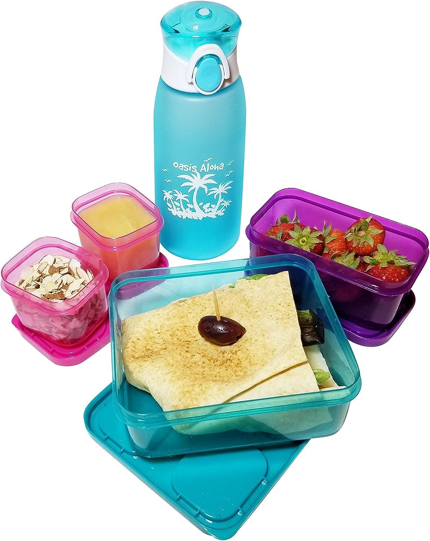 Girl Vinyl x 2 FREE P/&P Back to School Lunchbox Water Bottle Boy