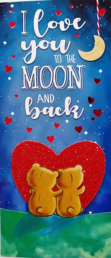 Amazon i love you to the moon and back romantic premium quoti love you to the moon and backquot romantic premium greeting card m4hsunfo