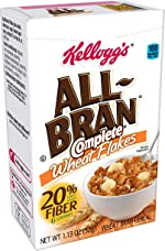 Kellogg's All-Bran Complete Wheat Flakes, Breakfast Cereal, Excellent Source of Fiber,