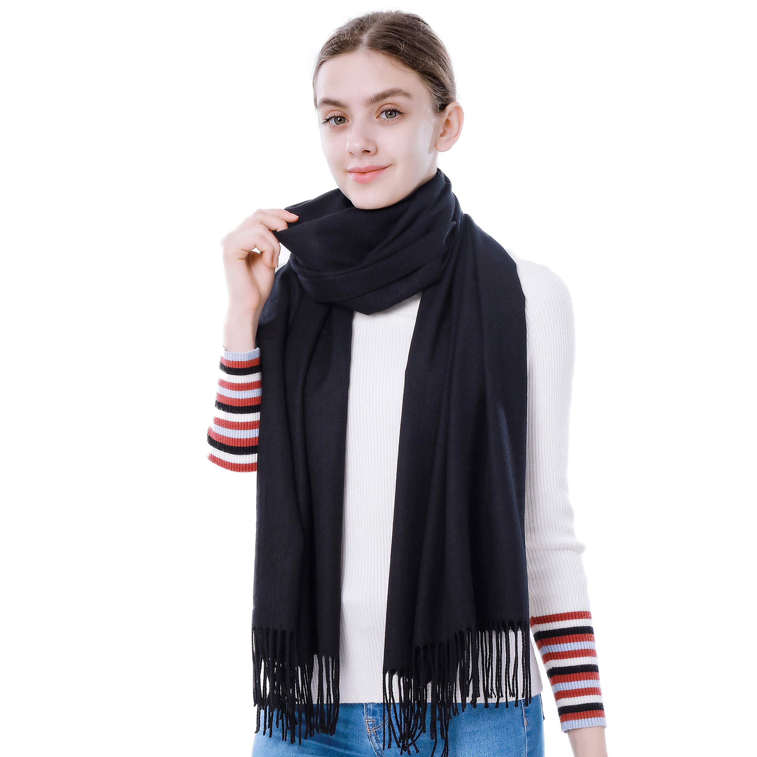 Cashmere Pashmina Scarf and Shawl - Soft Women Pashminas (20 Colors)