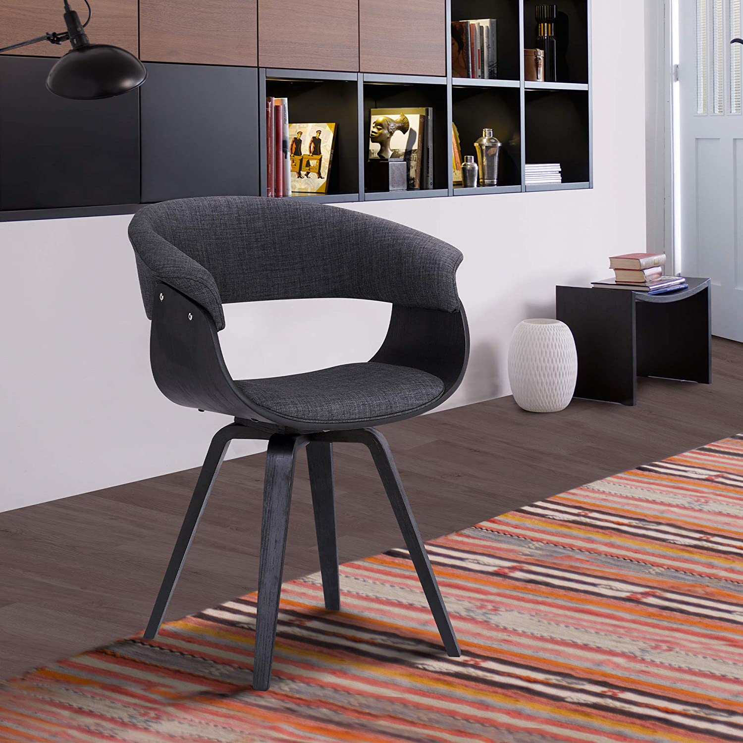 Armen Living Summer Dining Chair, Charcoal