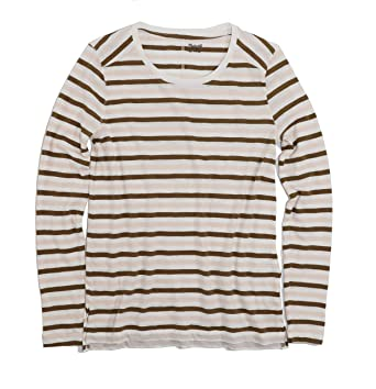 2276a16790 Madewell Women's Long Sleeve Striped Whisper Tissue Tee at Amazon ...