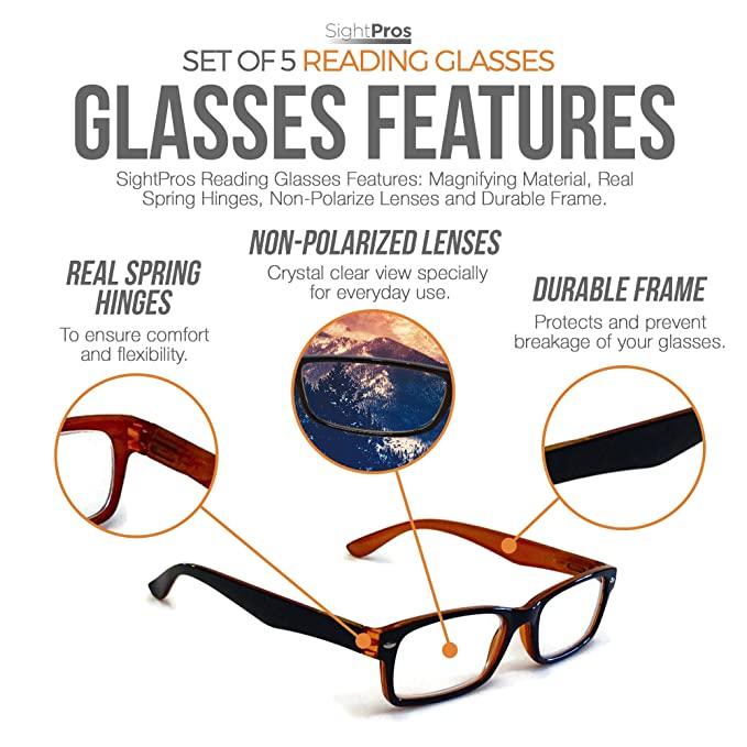 62317f89db26 Amazon.com  SightPros Reading Glasses - See Clearly up close -